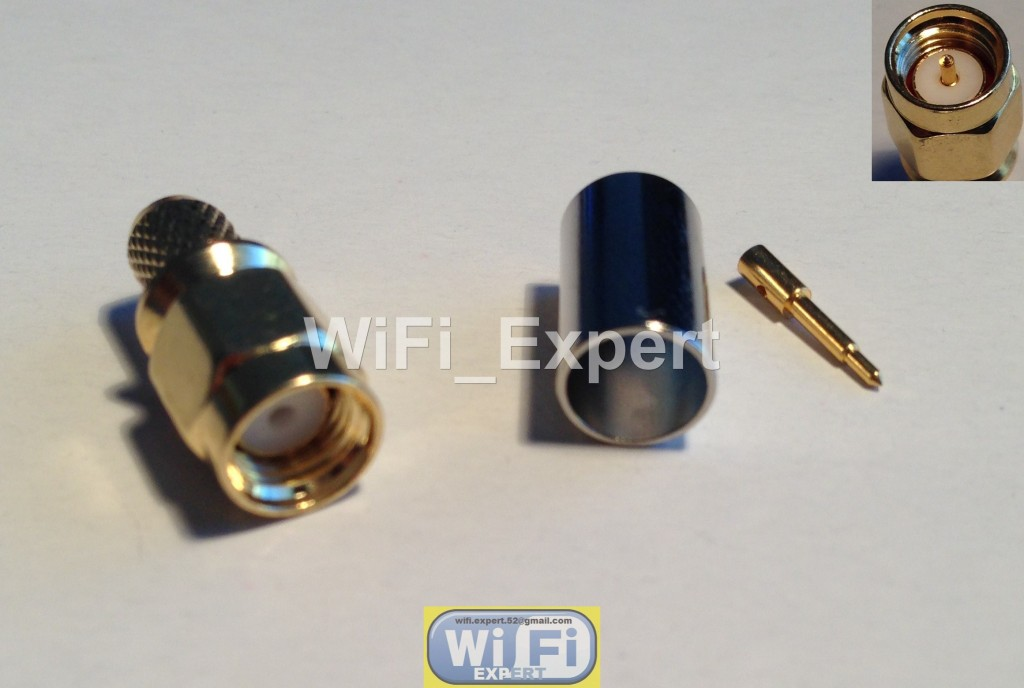 SMA Male plug Male pin crimp for RG-8X LMR240 RG8X cable RF Connector USA