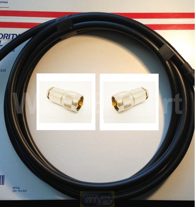 20 FT  LMR-400  Ham Radio LMR Antenna  PL-259 UHF to PL-259  Male  coax cable